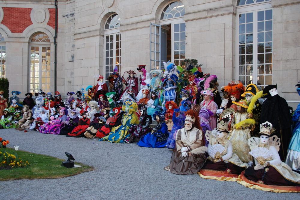 Carnaval vénitien Remiremont AL - Séance photo final aux jardins des Olives