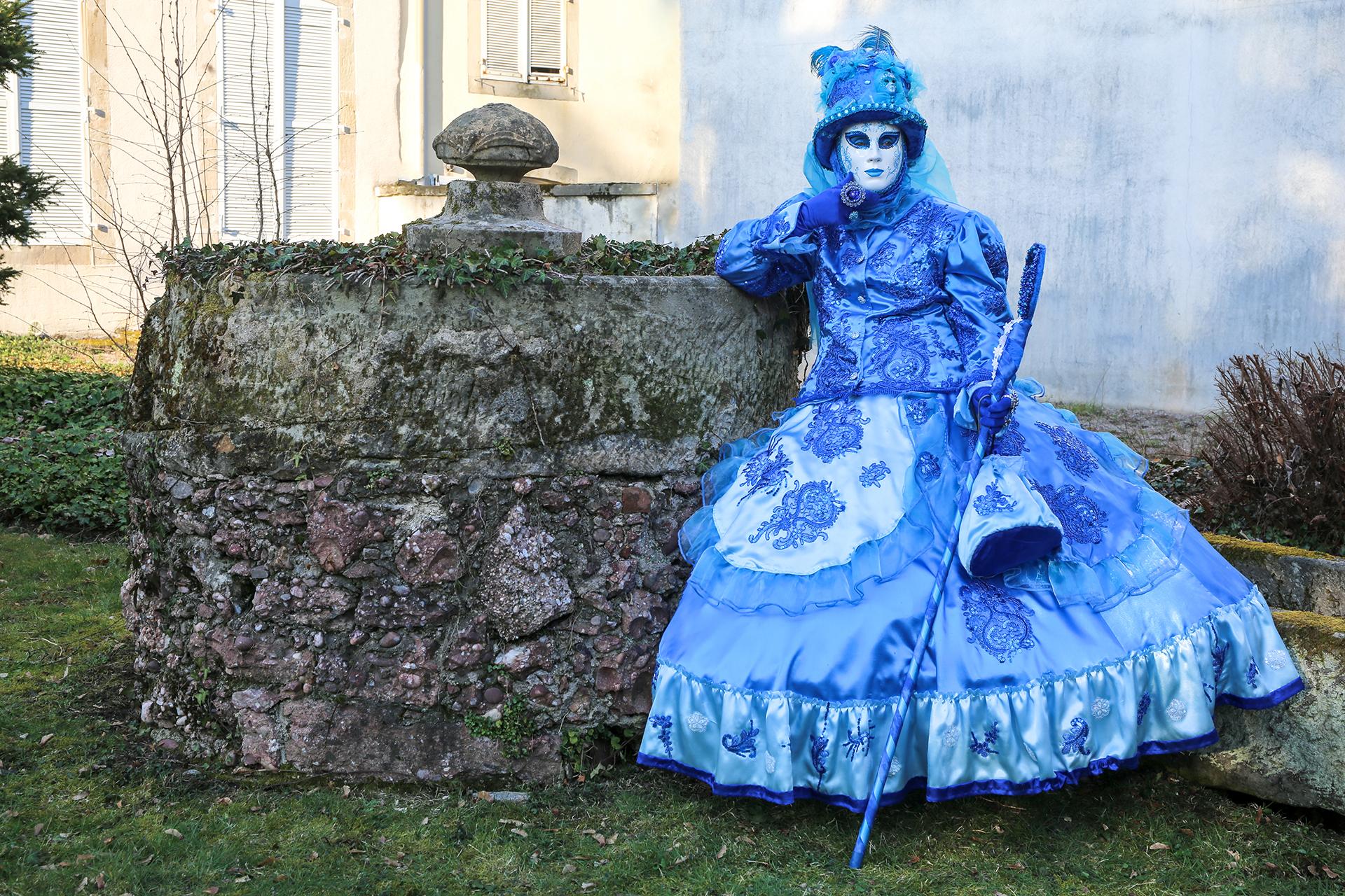 Pensée bleue près de la fontaine- Photo Blandine et Francis Aubertin