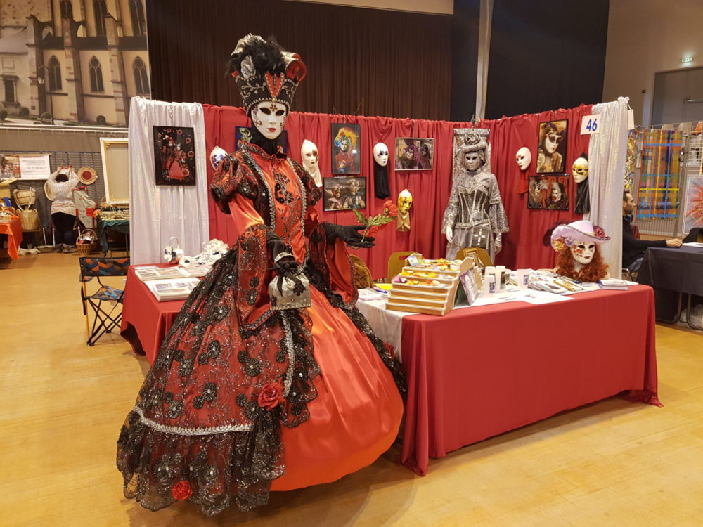 Stand de l'association au salon art et artisanat de Remiremont - Photo AL